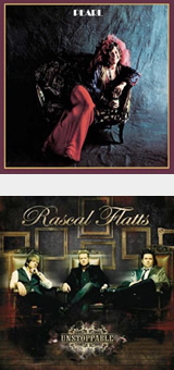Janis Joplin's clothes reflected her personality. The formal wardrobe of Rascal Flatts sets a mood and helps tie in all of the other elements on the cover.