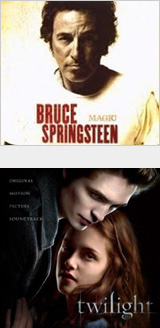 In the Springsteen and Twilight covers, the lighting brings your attention to their faces and helps set a mood or tone.