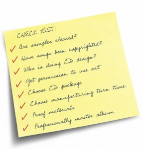 Plan your self-released album with our DIY musician CD manufacturing checklist