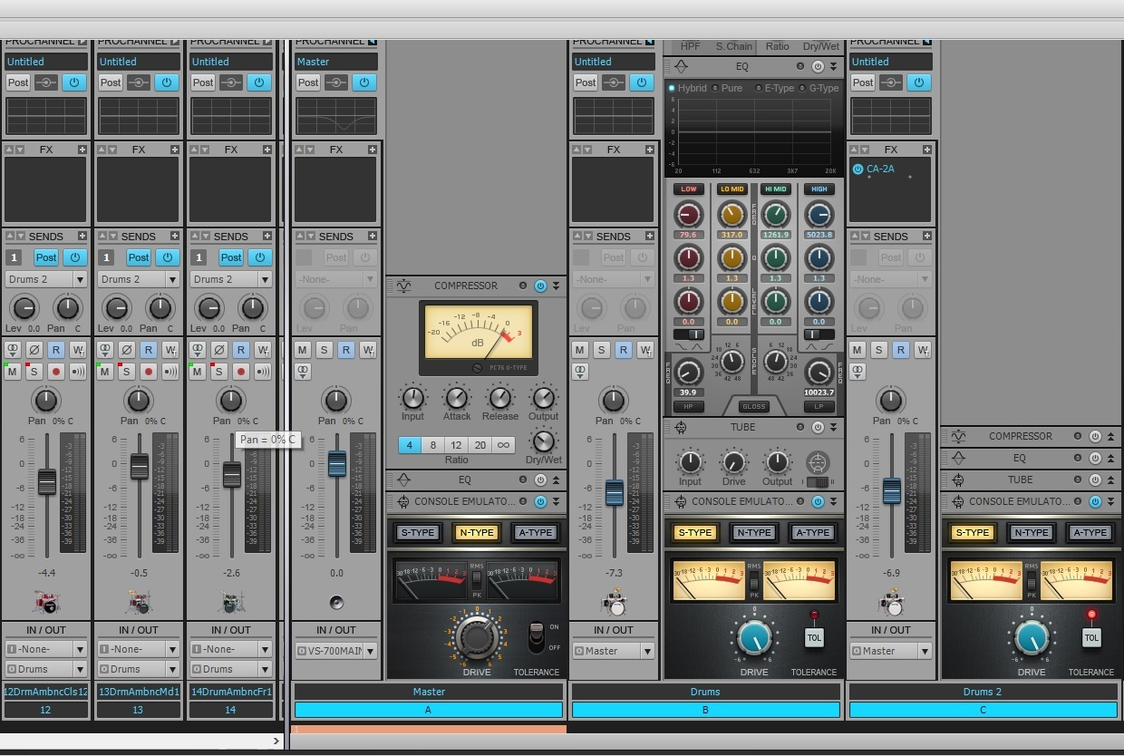 Buses in Mixdown in SONAR X2 Producer