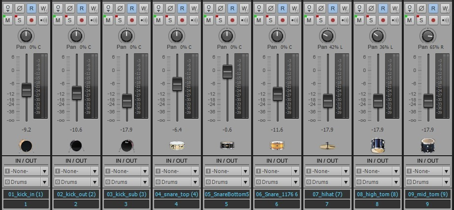 Mixdown Console View in SONAR X2 Producer