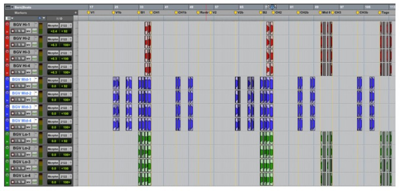 Arranging Background Vocals in Pro Tools
