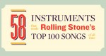 58 music instruments in 100 greatest songs