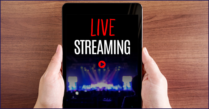 broadcasting live gigs