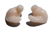 A common style of custom-fitted earplug.