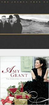 The U2 cover shows a keen eye for composition in how the figures relate to each other and to the background. The Amy Grant cover uses props effectively to create a dynamic composition.