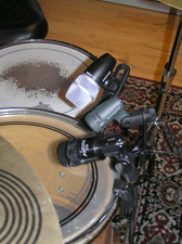 Three different drum clips simplify using these drum packages on stage or in studio.
