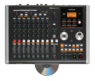 TASCAM's DP 02 CD is a fully featured all-in-one recording system with plenty of on board signal processing and built-in CD burner for mixdown.