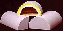Half-round Geometrix sound absorbers