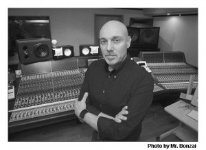 record producer Joe Chiccarelli in the studio