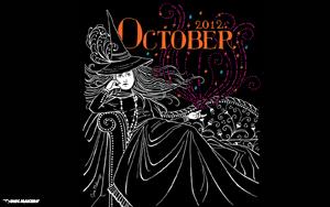October wallpaper inspired by Carlos Santana