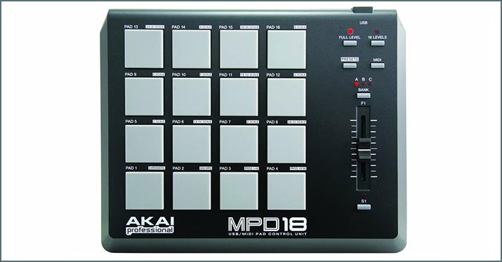 Akai MDP 18 MIDI controllers