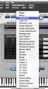 Auto-tune scales