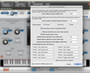 Auto-tune options