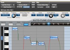 Auto-tune note tool