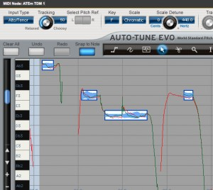 Auto-tune make notes