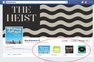 Marketing the 4 apps on your Facebook band page