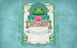 Disc Makers September Desktop Wallpaper. Keane, The Frog Prince