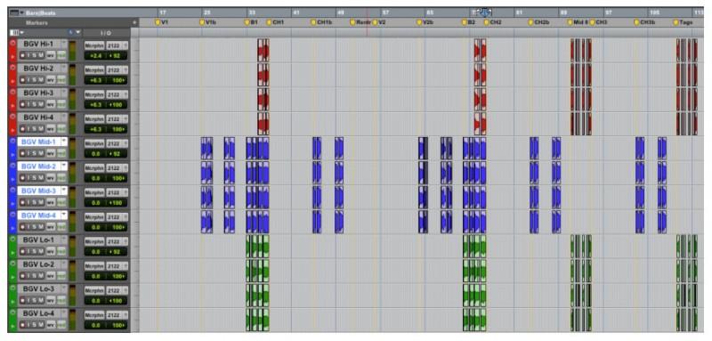 Arranging Background Vocals in Pro Tools