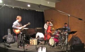 Using isolation headphones at the Take 5 Jazz Club