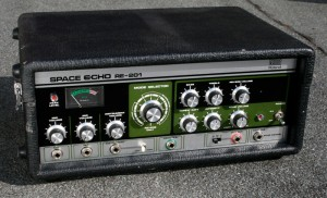 The Roland Space Echo provides an idiosyncratic echo that plug ins can't emulate.