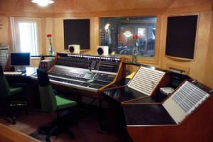The Fidelitorium control room features a vintage 1978 solid-state console.