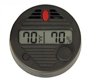 a digital hygrometer is great for guitar care