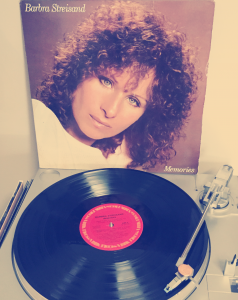 Christina loved singing along to Barbra Streisand's Memories on vinyl LP.