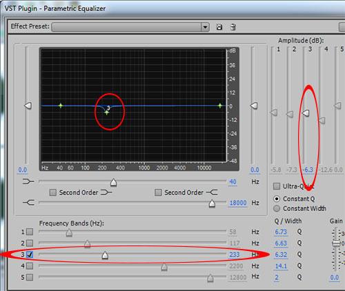 audio mix 233 Hz
