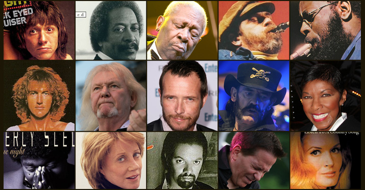 musicians who died in 2015 collage