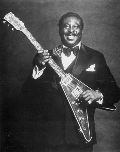 Albert King with a flying v