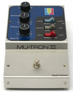 mu-tron III effects pedals