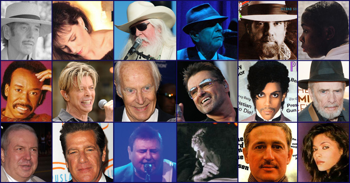 musicians who died in 2016 collage