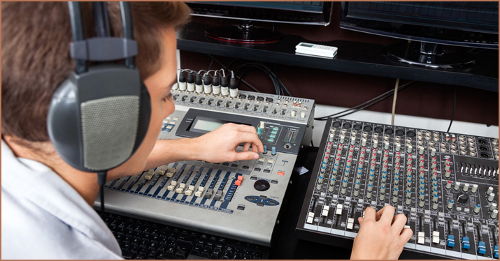 A studio engineering employing mixing tips.