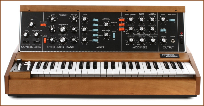 The Minimoog is a staple when it comes to analog synth sounds.