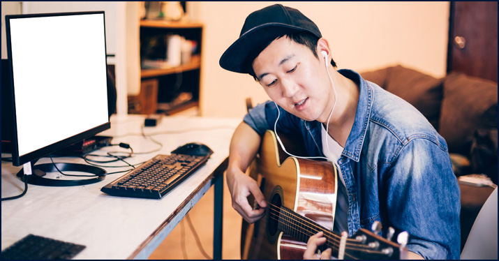 A songwriter considering hiring musicians online to complete his project.