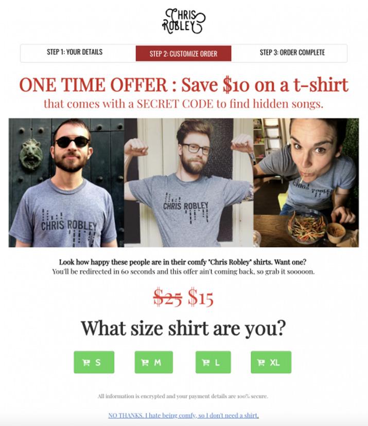 free CDs T-shirt offer