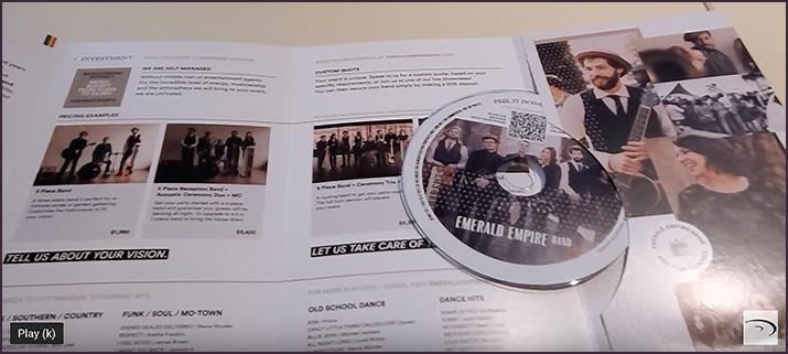 premium CD packaging custom folder