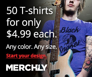 Merch.ly: 50 t-shirts. Any color for only $4.99/shirt!