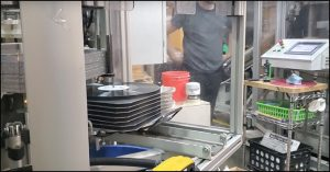 vinyl manufacturing process press