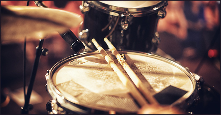 record a snare drum