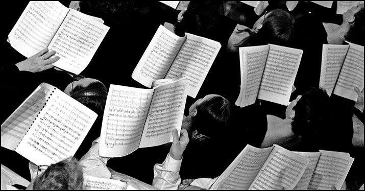 sight-reading music